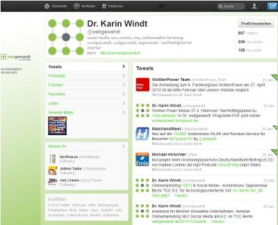Screenshot Twitteraccount webgewandt