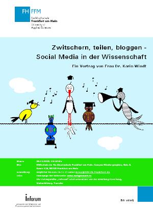 Vortrag Dr. Karin Windt an FH Frankfurt - Plakat