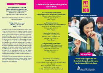 Workshops für Absolventinnen der Universität Paderborn