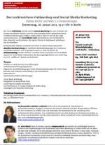 Rechtssicherer Onlineshop & Social Media. Seminar-PDF webgewandt
