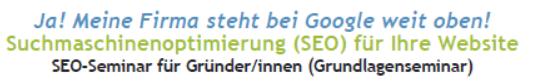 SEO-Seminar Berlin Title webgewandt