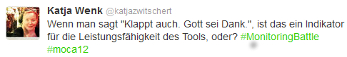 Screenshot Twittertweet #moca12 Hamburg