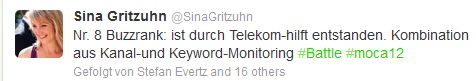 Screenshot Twittertweet #moca12 Hamburg zum Monitoringbattle