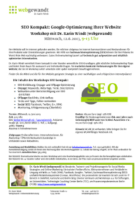 SEO Workshop Berlin webgewandt Screenshot Flyer