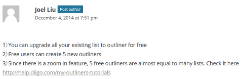 Diigo Outliner Screenshot
