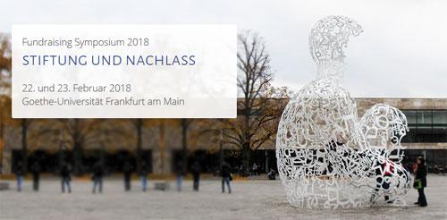 Fundraising Symposium - Foto mit Ausschnitt der Goethe-Universität Frankfurt am Main