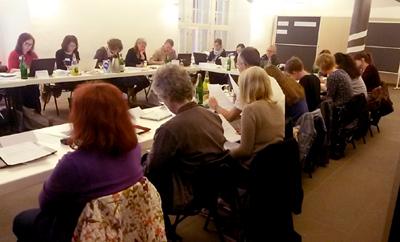 Teilnehmer*innen des Workshop Onlinereputation des Vwerband der Literaturübersetzer*innen in Wolfenbüttel